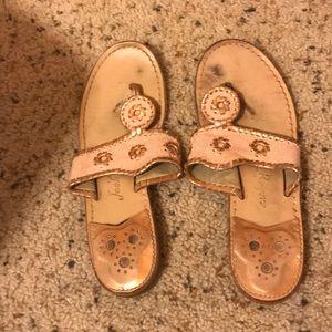 Pink & rose gold jack roger sandals